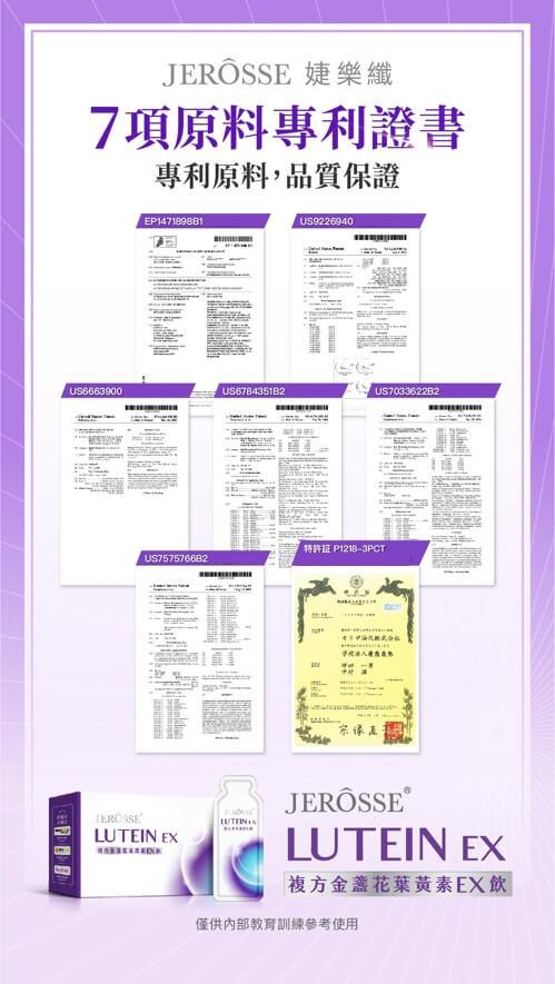 婕樂纖複方金盞花葉黃素EX飲_歐美7大專利