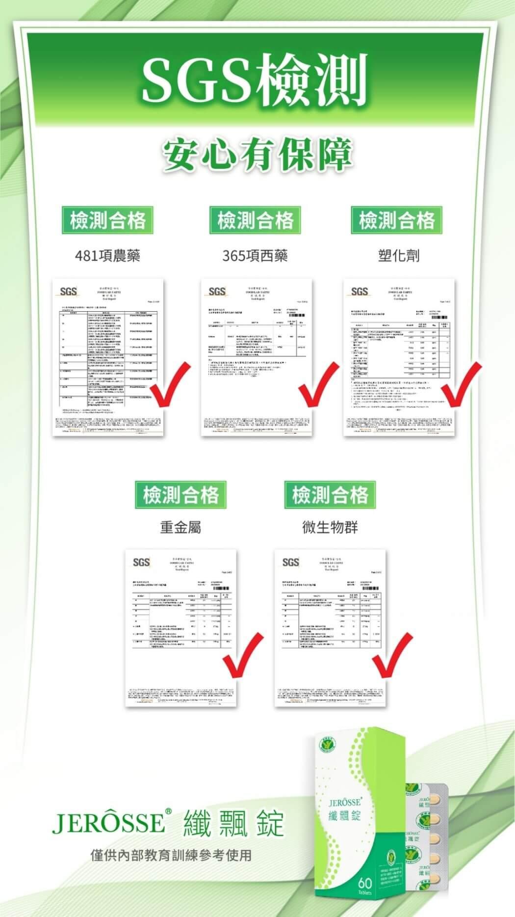 纖飄錠_SGS檢驗合格