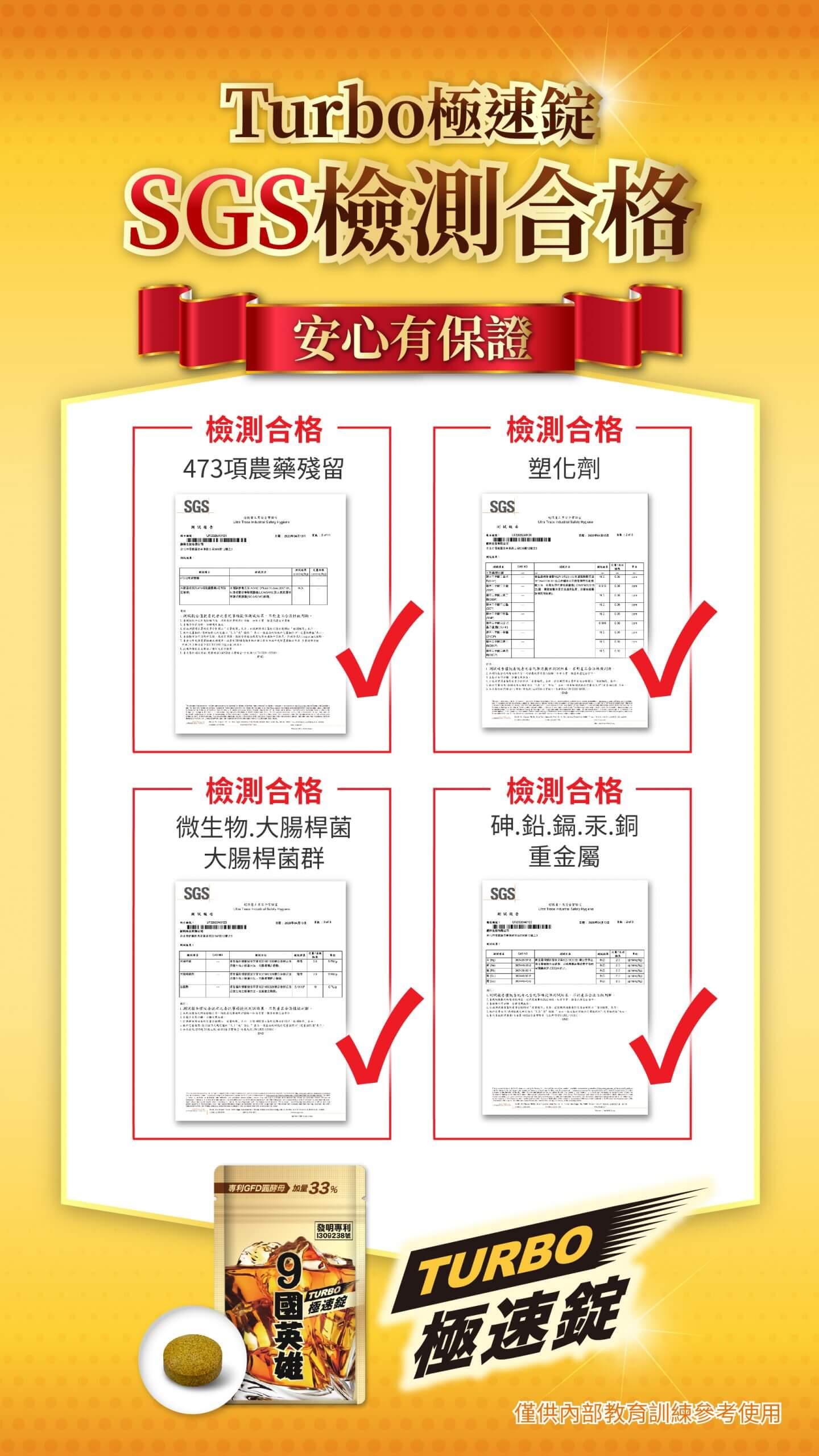 婕樂纖9國英雄Turbo極速錠SGS安全認證